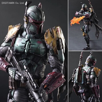 NEW hot 28cm Star Wars 7: The Force Awakens Boba Fett mobile action figure toys Christmas toy szda play arts star wars the force awakens boba fett figure action figures gift toy collectibles model doll 204