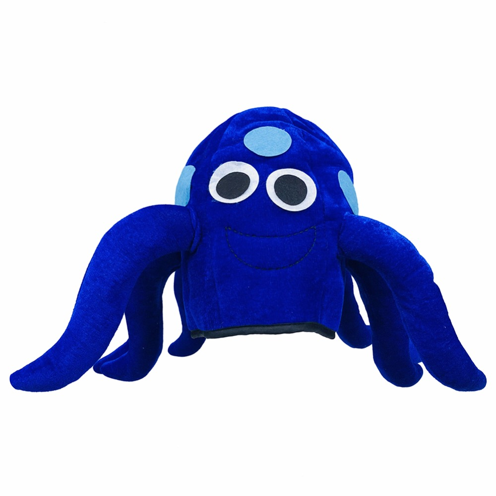 Halloween Funny Octopus Hat Blue Animal Masquerade Fancy Dress Cosplay Props Adults Carnival Birthday Party Gift for Kids Child