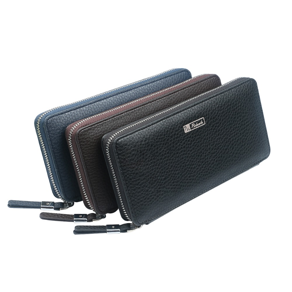 Fashion Men Wallets Long Leather Men's Wallet Zipper Men Purse Large Capacity Clutch Bag Coin Purse Card Holder Phone Bag Money large capacity women wallet leather card coin holder money clip long clutch phone wristlet trifold zipper cash female purse