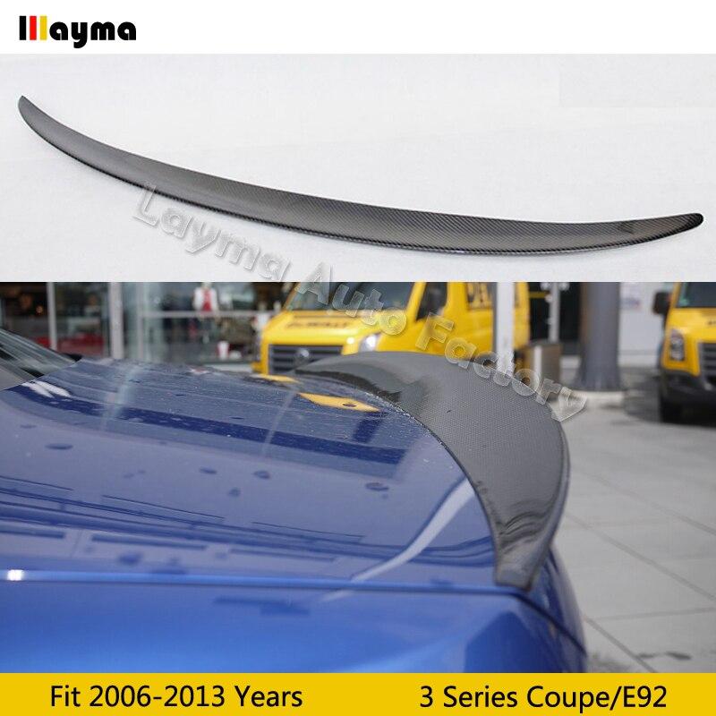 Aileron de coffre arrière en Fiber de carbone de style Performance pour BMW série 3 coupé E92 320i 330i 335is aile de aileron de voiture 2006-2013 ans