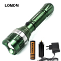LOMOM military 1101 police cree led flashlight torch 18650 fishing hunting light lantern for AAA battery