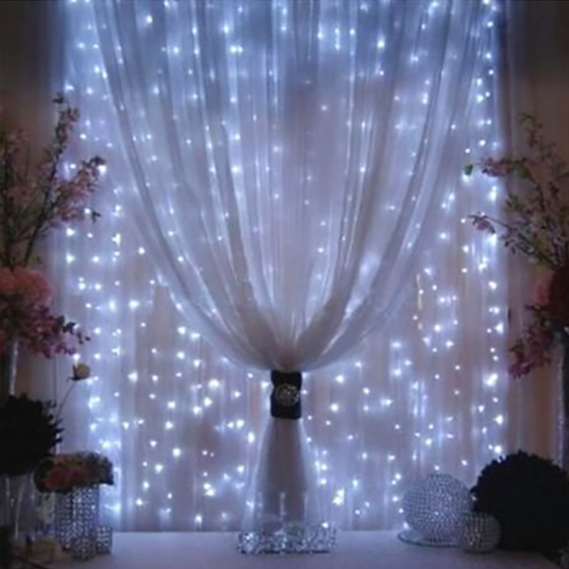4.5Mx3M LED Icicle Curtain String Lights Fairy XMAS Light 300 Luces Christmas String Light For Party Home Garland Holiday Lights