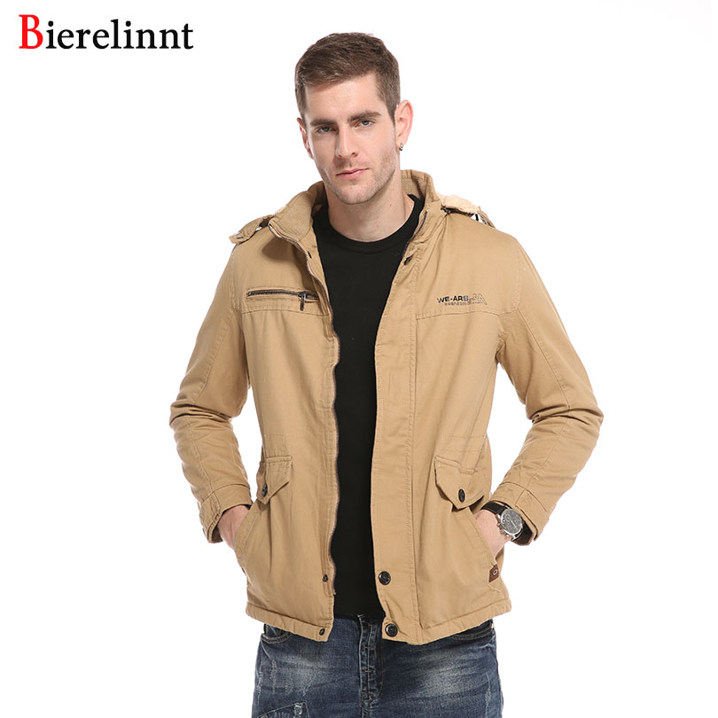 Bierelinnt 2017 New Arrival Fashion Winter Warm Good Quality Outerwear Parkas Coat Slim Casual Men's Clothing Jackets,6658Z free shipping new arrival children s clothing child one piece dress twinset winter dress good quality coat dress