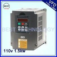 110 В в 1.5kw VFD переменной частоты Инвертор/VFD вход 1or3HP В 110 В выход 3HP 110 В в преобразователь частоты