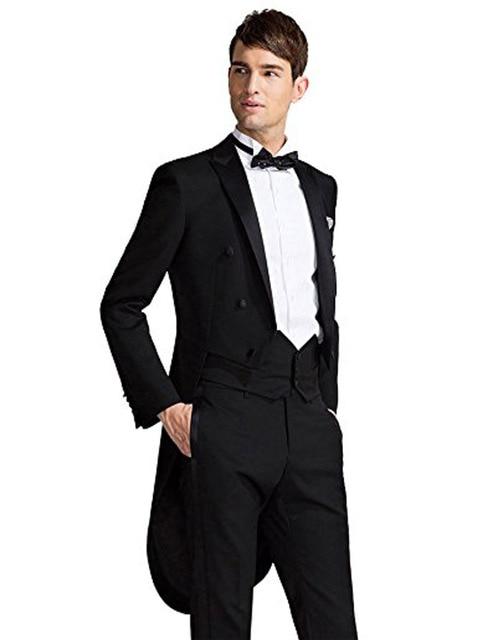 Nach Maß männer Klassische Schwanz Anzug Schwarz Bräutigam Anzug Formale  Anlass Party Anzug Groomsman Abendanzüge ( 9e461a1deb