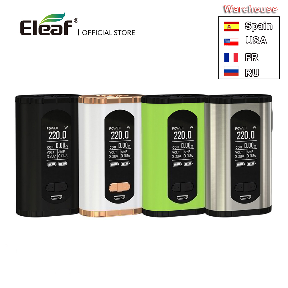 Warehouse Original Eleaf Invoke Box MOD 220W Larger 1.3-inch Display Screen 510 thread Electronic Cigarette