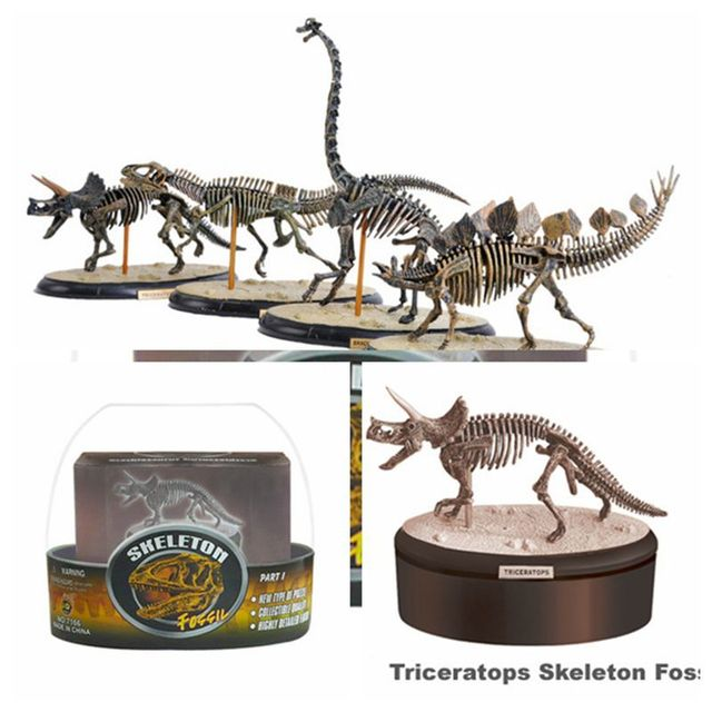 4 styles of app.15cm first generation dinosaur skeleton model 3D puzzles 7166
