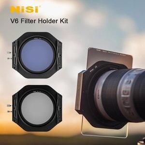Image 1 - Kit de support de filtre Nisi V6 système 100mm avec filtre polarisant circulaire CPL 67 72 77 82mm bague adaptateur pour filtres carrés