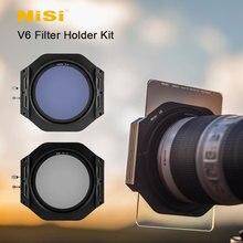Nisi V6 フィルターホルダーキット 100 ミリメートルシステム円形 Polarising フィルター CPL 67 72 77 82 ミリメートルアダプタリング正方形のフィルター