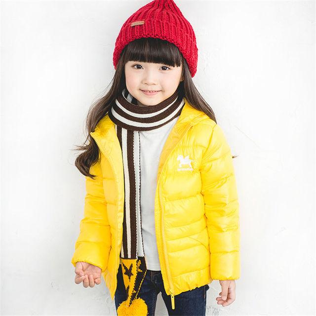 Pony decoración dinosaurio cola tentáculos gruesa caliente niños niñas chaqueta de algodón acolchado amarillo para 0-4 Niños de invierno paño