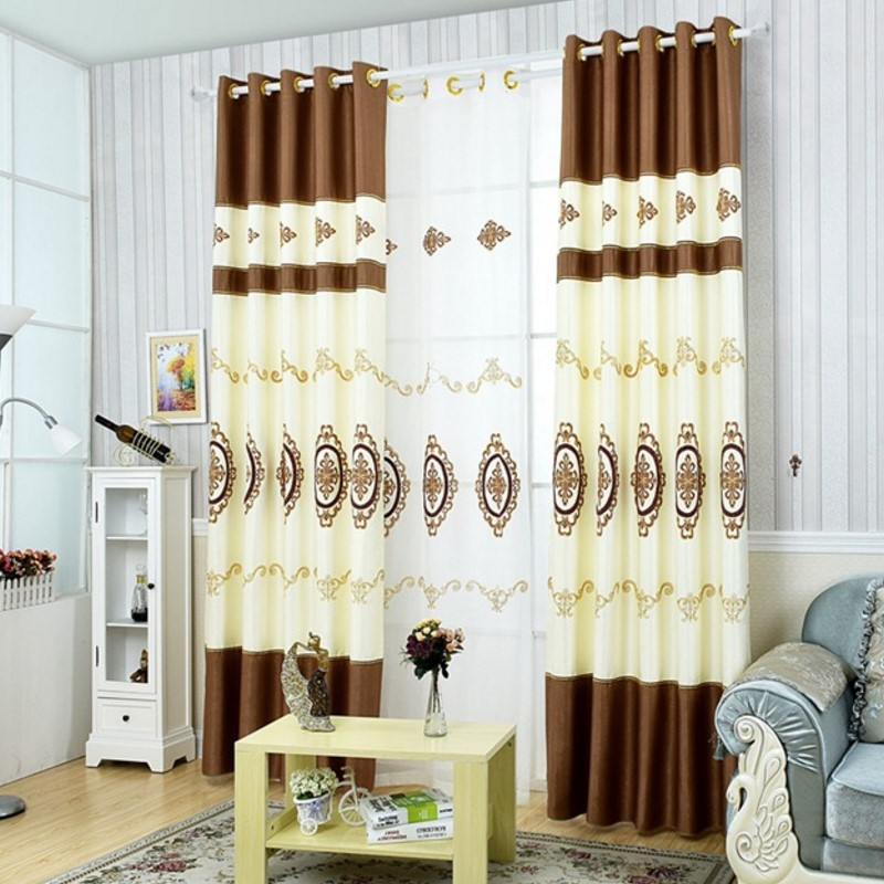 Online buy wholesale curtains blue brown from china - Brown and light blue curtains ...