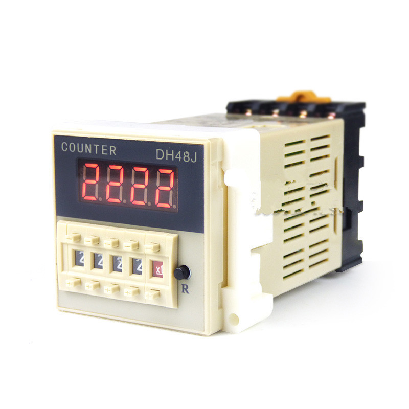 DH48J-8 8 pin DC12V  DC24V AC220V AC110V AC380V  contact signal input digital counter relay DH48J series  counting relay free shipping ac 110v 50 60hz panel mount dh48j 1 999900 digital counter relay
