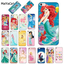 MaiYaCa Princesa Ariel Da Pequena Sereia snow princess Luxury Case capa do telefone para o iphone 8 7 6 6 S Plus X XS MAX XR 5 5S SE 5C caso(China)