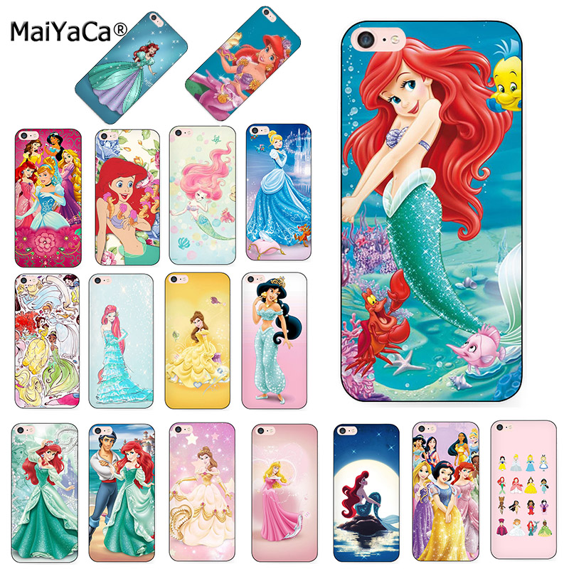 MaiYaCa Princess Ariel Little Mermaid snow princess Luxury cover phone Case for iPhone 8 7 6S Plus X XS MAX XR 5S SE 11pro case