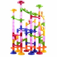 105pcs DIY Building Blocks Maze Track Marble Ball Construction System Toy For Kids Chilrden