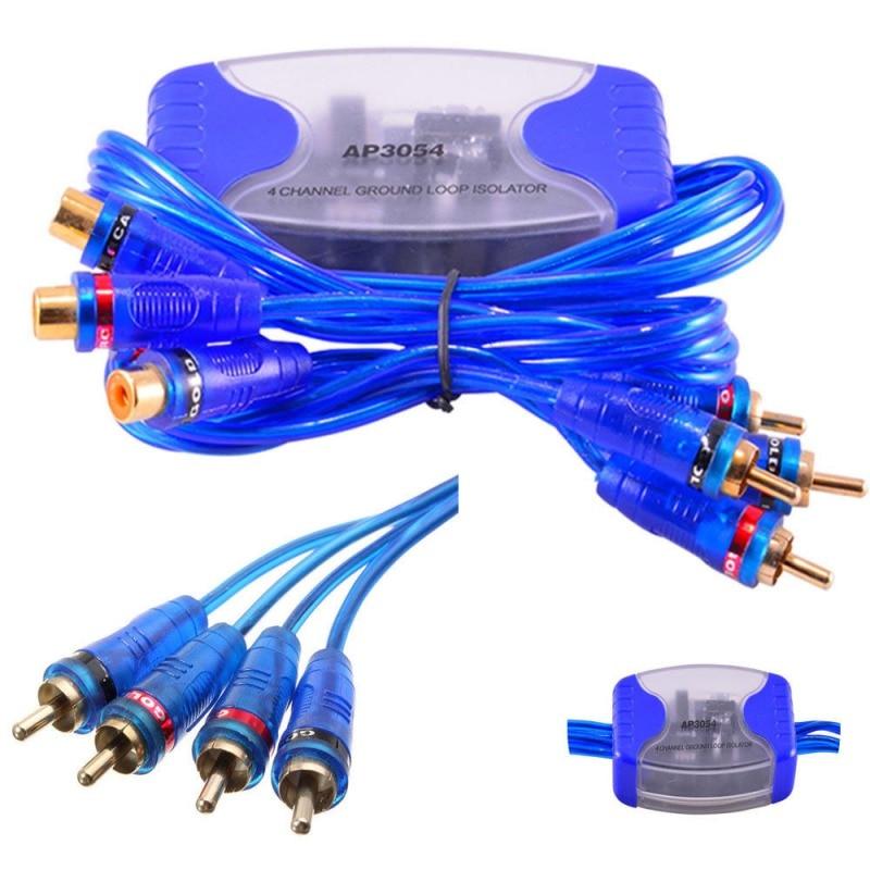 4x RCA mâle + 4x RCA femelle 4 canaux RCA Audio bruit Hum filtre suppresseur sol boucle isolateur voiture stéréo