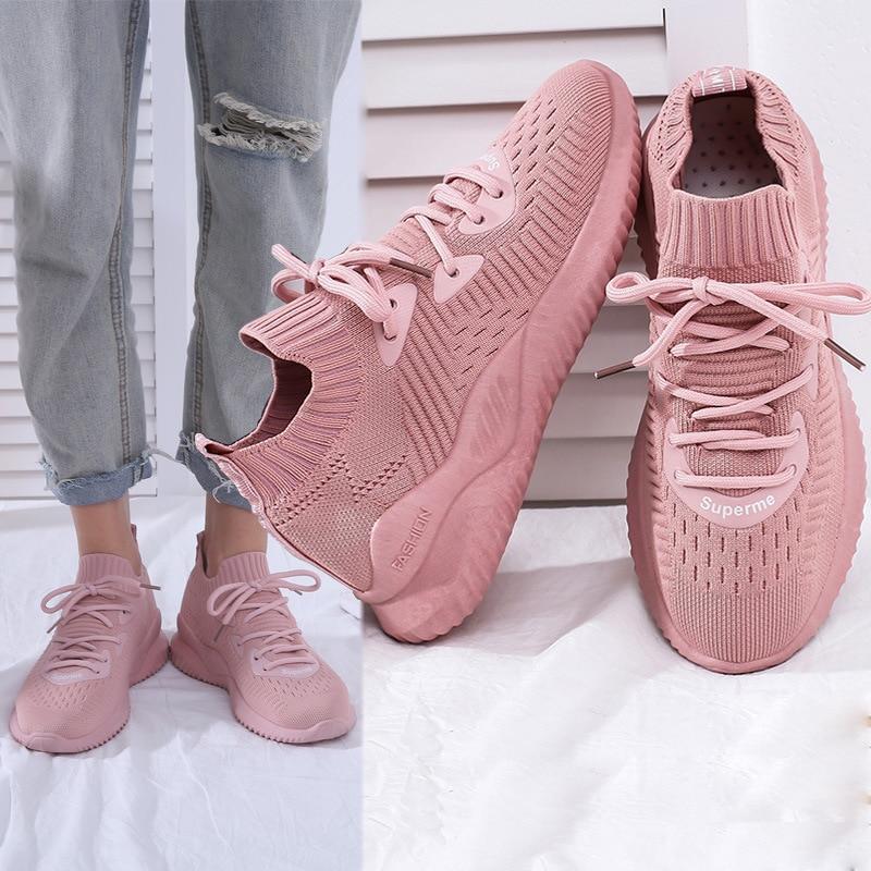 Running Shoes For Sale Fashion Rubber Low Eva Feminino Esportivo Zapatillas Deporte Mujer 2019 Newest Women Sneakers Street Shoe
