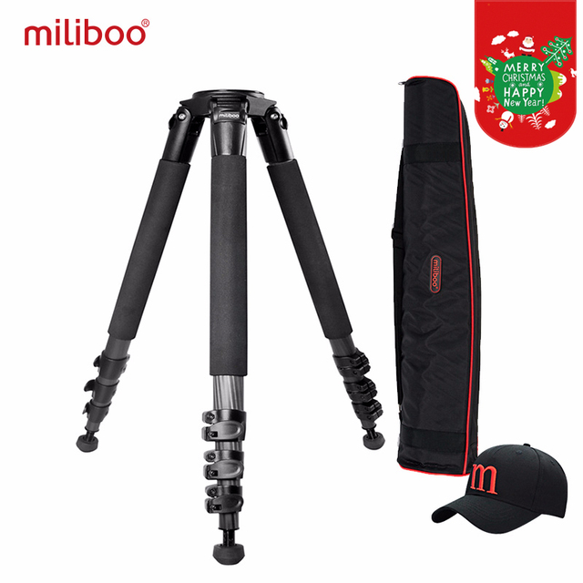 miliboo Portable MTT702B(without head) Carbon Fiber Tripod for Professional Camera Camcorder/Video/DSLR Stand,Stable Design