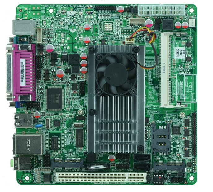 Intel Atom D525 mainboard, x86 mini itx atom motherboard D525 /6*COM/ 2*SATA2 / MSATA ultra thin pc d525 motherboard fanless mini itx motherboard with onboard ddr3 2gb ram