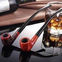 Handmade Black Briar Smoking Pipe Tobacco Filter Smoking Set