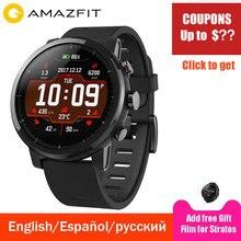 Xiaomi Huami Amazfit 2 Amazfit Stratos Pace 2 умные часы мужские с gps Xiaomi часы PPG пульсометр 5ATM водостойкий