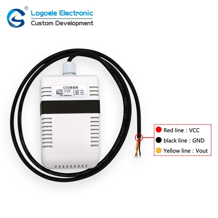 Alta qualidade 400-2000ppm transmissor de co2 sensor