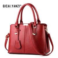 QICAI YANZI Brand 2017 Luxury Handbags Ladies Hand Bags Women Leather Bags Large Capacity Women Crossbody