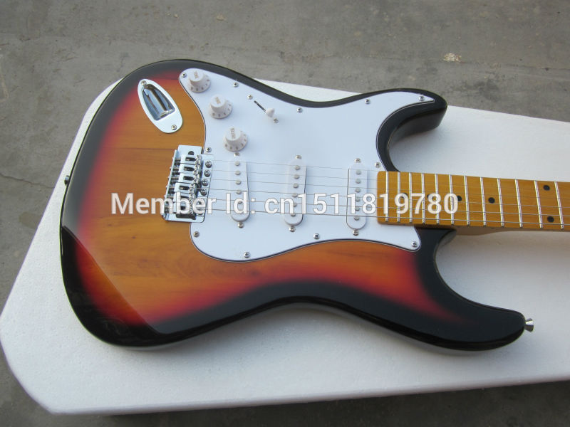 Electric guitar Free shipping Wholesale new st electric guitar/sunburst color left hand guitar/guitar in china