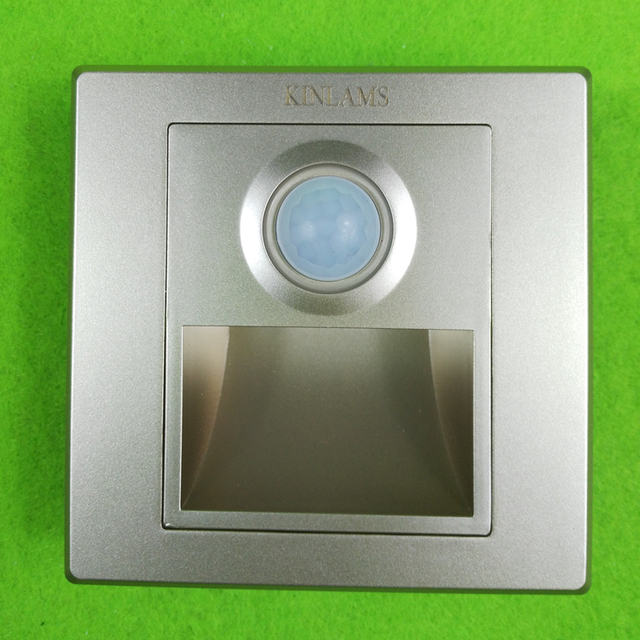 KINLAMS AC85 265V 1.5W Luminaria Motion Sensor Stair Lights LED Wireless  Wall Lamp Footlights