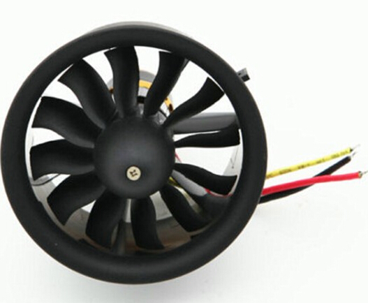 ФОТО 1 set Change Sun 64mm Ducted Fan 12 Blades with EDF 3s 3200KV kv3200 motor all set free shipping