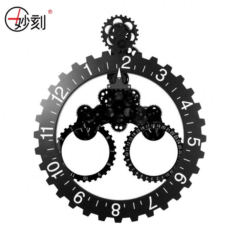 DIY Assembly Large Gear Wall Clock Fashion Cool Creative