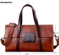 GenuineLeather Women Luggage bags Vintage Handbags Cowhide Women Crossbody Bags Large Capacity Travel/Duffel Bags lfb01