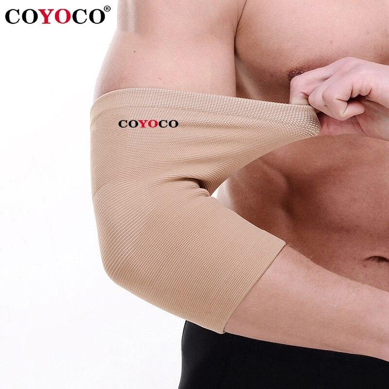1 pçs cotovelo almofada proteger apoio joelho luva coyoco marca alta elástica esportes ao ar livre ciclismo ginásio cotovelo guarda cinta marrom quente