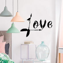 Creative love Decal Removable Vinyl Mural Poster Decor Living Room Bedroom Nordic Style Home Decoration