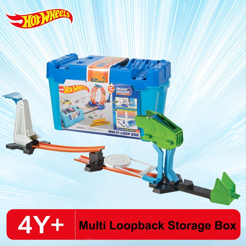 New Original Hot Wheels Variety Matching Track Multi Loopback Storage Box Hotwheel Car Toy Boy Birthday Gift FLK90
