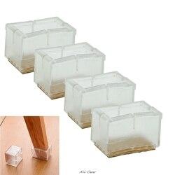 4x Neue Platz Stuhl Bein Caps Gummi Füße Protector Pads Möbel Tisch CoversF1FB
