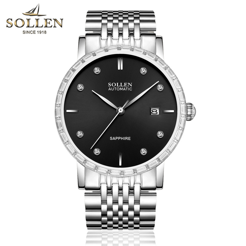 Sell watches men fashion luxury watch All Stainless Steel High Quality Diamond Mechanical men clock Ladies Rhinestone Watches onlyou brand luxury fashion watches women men quartz watch high quality stainless steel wristwatches ladies dress watch 8892