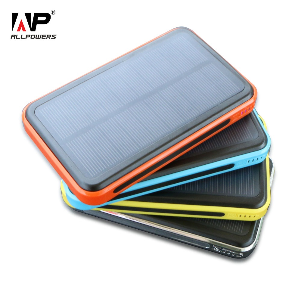ALLPOWERS 10000mAh Solar Panel Charger with iSolar Technology for iPhone iPad and other 5V USB devices