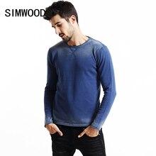 Simwood 2017 брендовый Рождественский свитер Мужчины Мода Полосатый градиент старинные 100% хлопок пуловеры MY2037