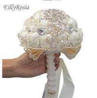 Свадебный букет de mariage Exotic золотая ювелирная брошь жемчуг ручной работы атласные ленты с розами кристаллы искусственный букет невесты