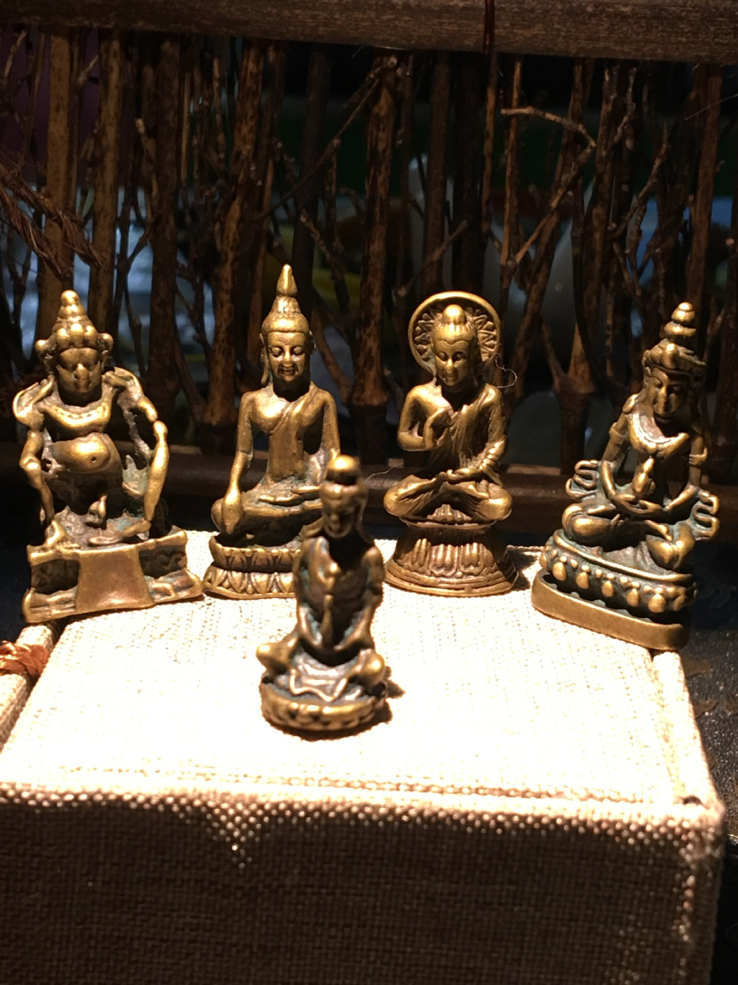 Copper Buddha Figurine Nepal Small Inch Buddha Statue To