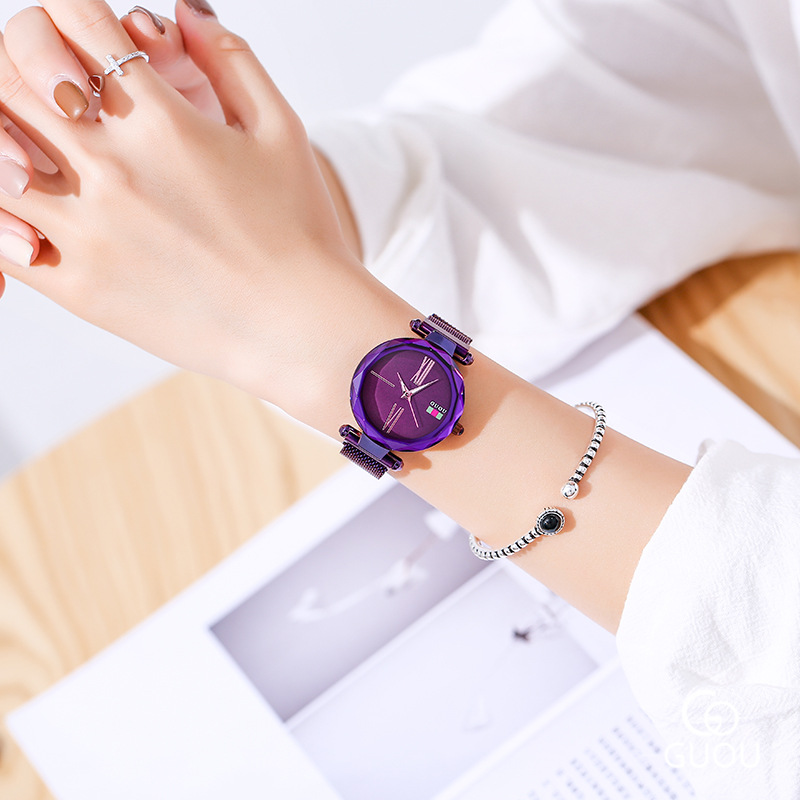 New Modern Fashion Black Ladies Quartz Watches Women Mesh Stainless Steel Watchband High Quality Casual Wristwatch Gift Clocks in Women 39 s Watches from Watches