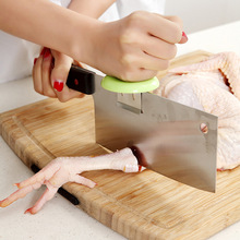 цены Creative Vegetable Cutting Aid Stainless Steel Bone-Assisted Artifact Blade Back knife Blade Knife Holder Kitchen Supplies Tools