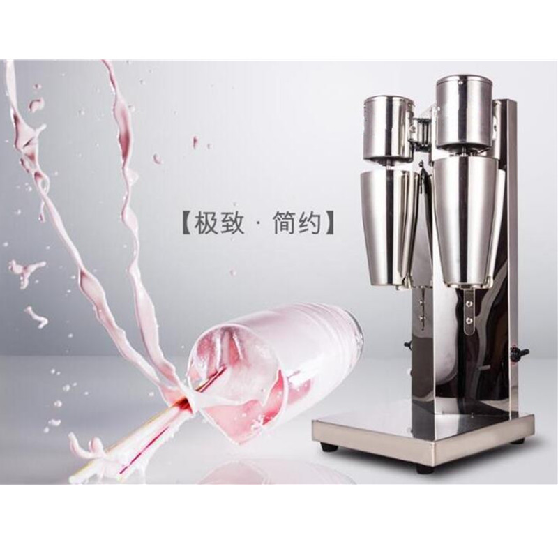 Automatic snow storm milkshake blender milk shake shaker machine commercial milk tea mixer foam with double cups stainless steel household milkshake machine single head commercial milk tea shop electric mixer milk bubble machine