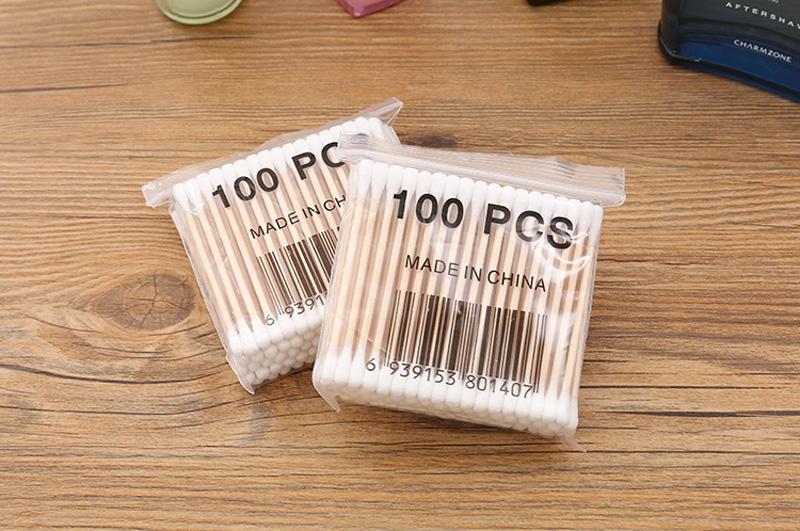 100pcs/Pack Bamboo Cotton Buds Sticks 16
