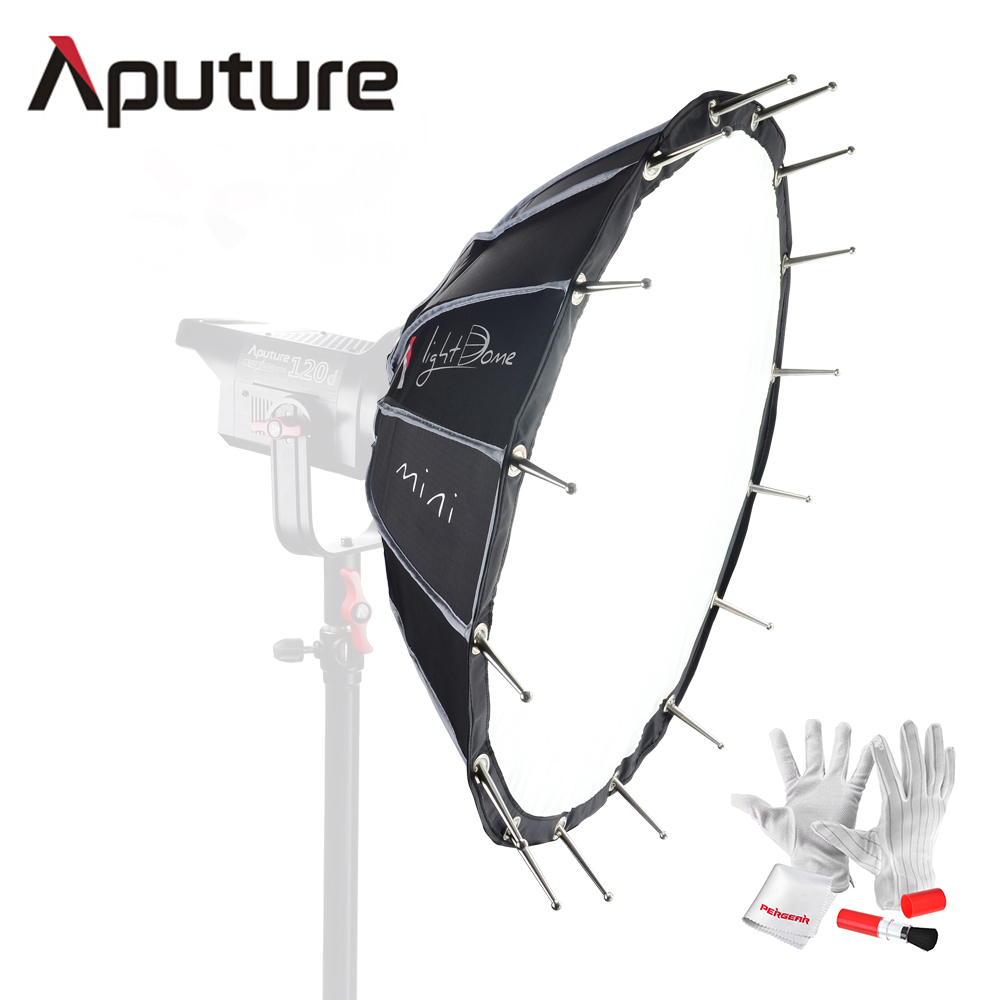 Aputure Light Dome mini Soft Box Flash Diffuser for Light Storm 120 COB 300 Series Bowens Mount LED lights 687mm Wide 250mm Deep storm yoyo ball with light and flash green