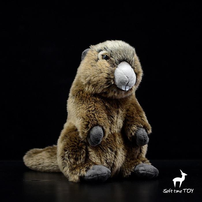 Stuffed Animals Toy Simulation Groundhog Doll Children Gifts Toys Standing Marmot Dolls