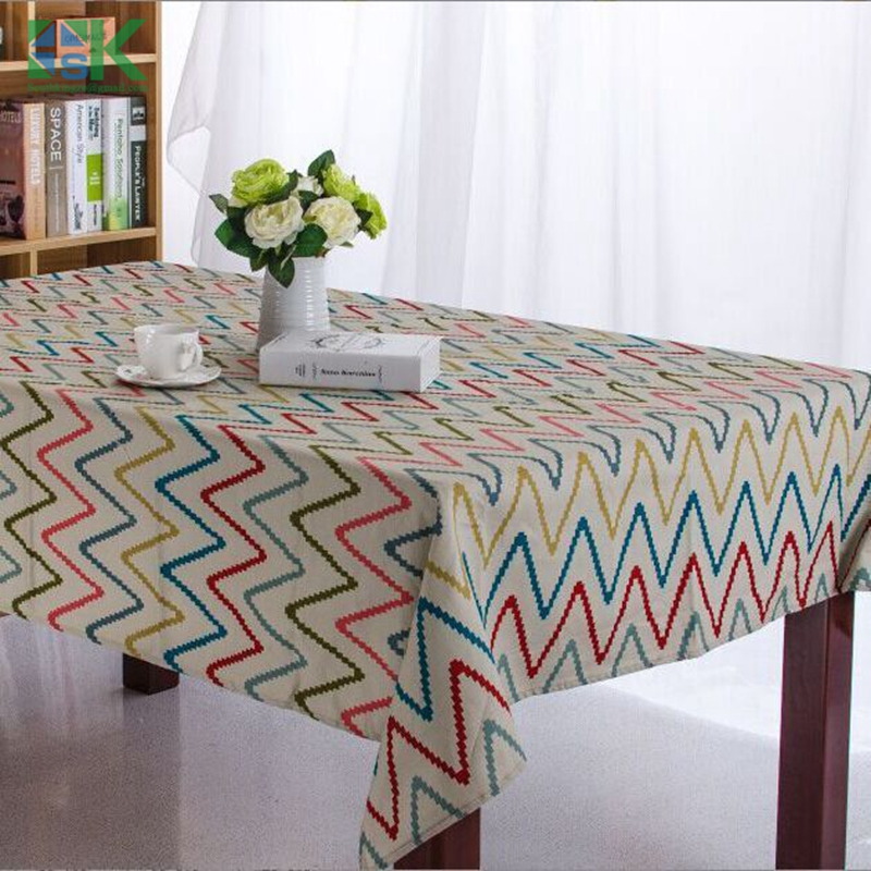 2016 Summer Blending Material Geometric Striped Printed Table Cloth  Rectangular Tablecloths Home Decoration Modern Table Cover