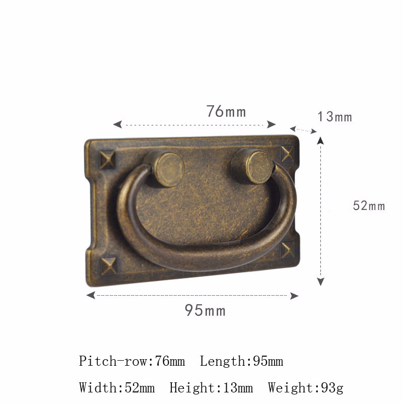 2PCS Lot Antique Bronze Label Tag Pull Retro Furniture Cabinet Drawer Label Tag Pull Frame Handle Name Card Holder Drawer Box in Cabinet Pulls from Home Improvement