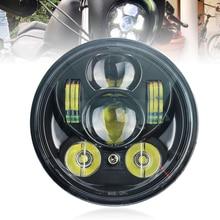 """5,7"""" светодиодный налобный фонарь с фонарями 50 Вт для Yamaha Bolt Raider SCR950"""
